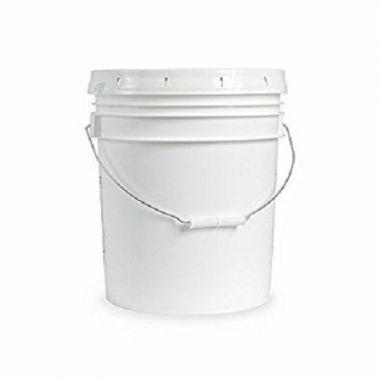 5 Gallon Food Grade Plastic White Bucket With Handle