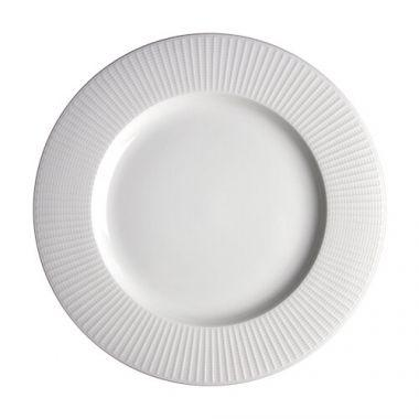 "Steelite® Willow Gourmet Wide Rim Banquet Plate, White, 11.25"" (6EA) - RFS066/9117C1170"