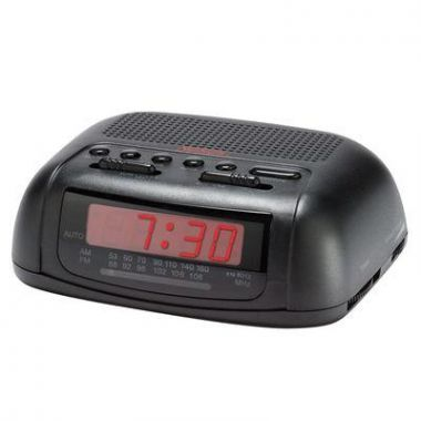 Sunbeam® AM/FM Alarm Clock Radio, Black, Case of 18