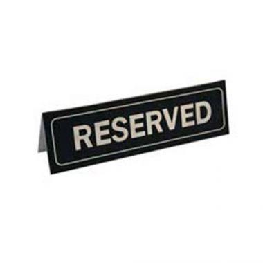 """Johnson-Rose® """"Reserved"""" Table Sign- RFS100/80050"""