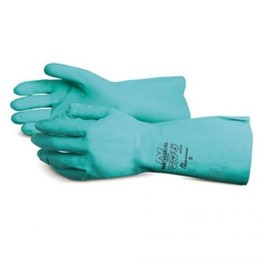 "Superior® Chemstop™ Nitrile Gloves, Medium, 19"" - RFS607/NI4622-8"