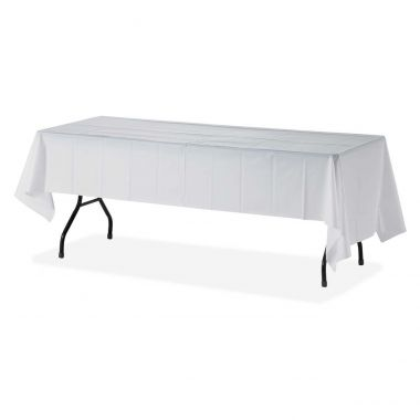 Genuine Joe Plastic Rectangular Table Covers Rectangular Table Cover 6 / Pack