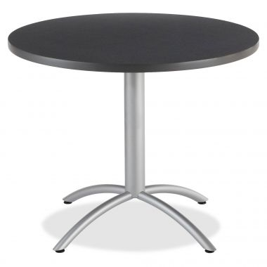 "Iceberg CafeWorks 36"" Round Cafe Table,Graphite"