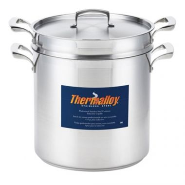Browne® Thermalloy Stainless Steel Double Boiler, 12 Qt - RFS016/5724072