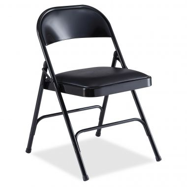 Lorell Padded Seat Folding Chair, Pack of 4