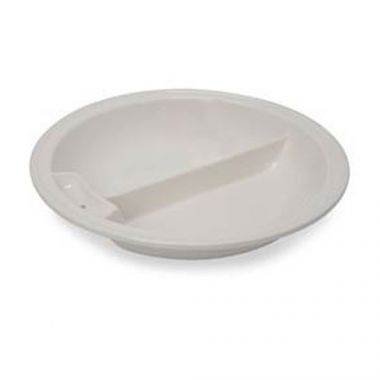 Vollrath® Divided Round Porcelain Food Pan for Induction Chafer - RFS1900/49130