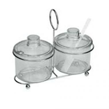 Johnson-Rose® Wire Condiment Holder w/ 2 Compartments- RFS100/9365