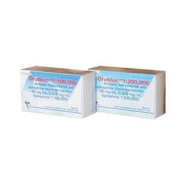 Orabloc Anesthetic Articaine Hydrochloride 4% and Epinephrine 1:200,000 box/50