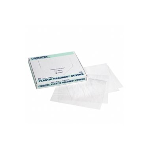 "Crosstex Clear Plastic Headrest Cover 9.5"" x 11"" (24x28cm) 250/box"