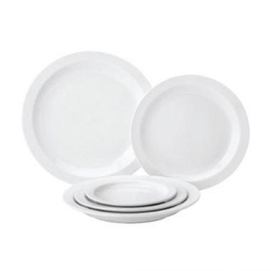 "Tableware® Pure White Narrow Rim Plate, 8"" - RFS674/PW E13020"