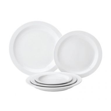 "Tableware®Pure White Narrow Rim Plate, 10"" - RFS674/PW E13025"