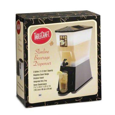 Tablecraft® Beverage Dispenser, Black, 3Gal 16 x 19 x 21 - RFS558/H353DP