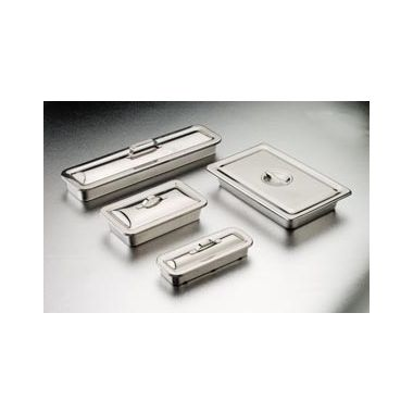 """Instrument Tray, 8 7/8""""L x 5""""W x 2""""H, Strap Handle on Lid"""