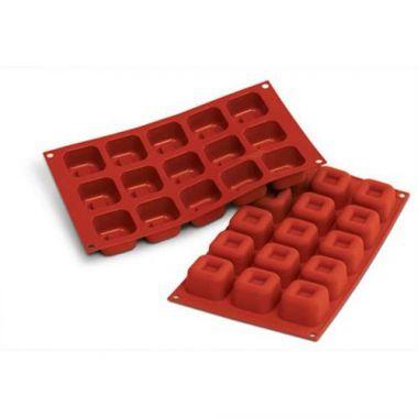 Eurodib® Silikomart Square Savarin Mold, 1.5oz - RFS3478/SF081