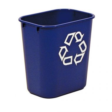 Rubbermaid® Blue Waste Basket, 12.9L - RFS152/FG295573BLUE