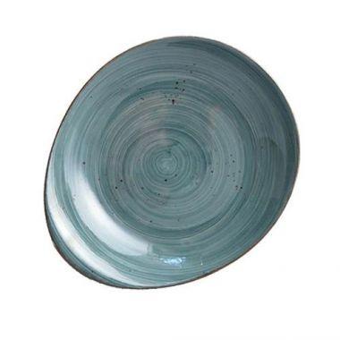 """Continental® Rustics Blue Pasta Plate, 8.2"""" x 9.5"""" - RFS674/30PEB232-03"""