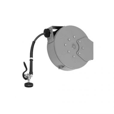 "T&S® Hose Reel System, Enclosed, Stainless Steel, 3/8"" x 50 ft W/ Spray Valve - RFS036/B-7142-C01"