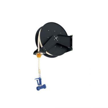 """T&S® Hose Reel System Open, Epoxy Coated Steel, 3/8"""" x 50 ft Hose W/ 7/16"""" Rear Trigger Water Gun - RFS036/B-7245-03"""