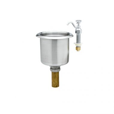 T&S® Dipperwell Faucet W/ Drain, Stainless Steel - RFS036/B-2282-01-F05