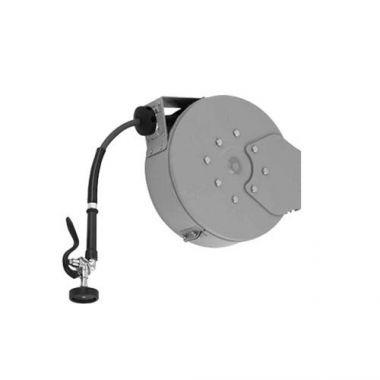 "T&S® Hose Reel System Enclosed, Epoxy Coated Steel, 3/8"" x 50 ft Hose W/ Spray Valve - RFS036/B-7242-C01"