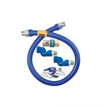 """Dormont® Moveable Gas Connector Hose Assembly, 1"""" Dia x 60""""L - RFS074/16100BPQ2SR60"""