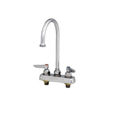 """T&S® Faucet, Gooseneck Nozzle, Deck Mount W/ 4"""" Centers - RFS036/B-1141"""