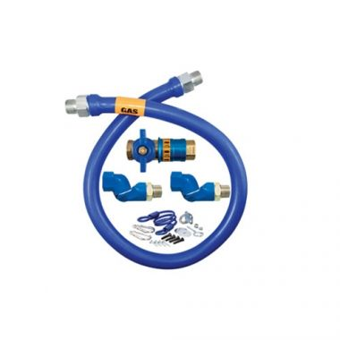"Dormont® Gas Connector Kit w/2 Swivels & Restraining Cable, 3/4"" x 36"" - RFS074/1675KITCF2S36"
