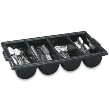 Vollrath® Cutlery Bin, Black, 4 Compartment - RFS1900/52653
