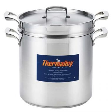 Browne® Thermalloy 3-Piece Pasta Cooker W/ Insert and Lid, 20QT- RFS016/5724090