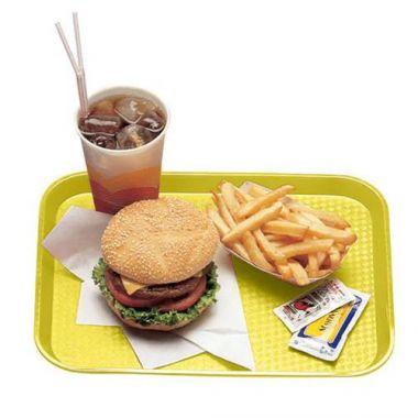"Cambro® Fast Food Tray, Primrose Yellow, 10"" x 14"" - RFS025/1014FF108"