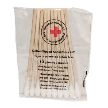 CANADIAN RED CROSS COTTON TIP APPLICATORS (PACK OF 10)