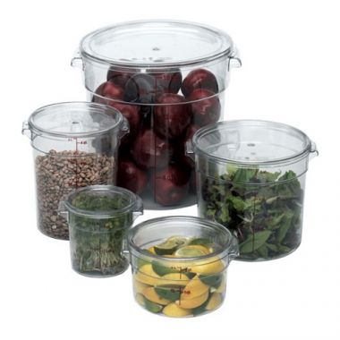 Cambro® Camwear Round Container, Clear, 8 Qt - RFS025/RFSCW8135