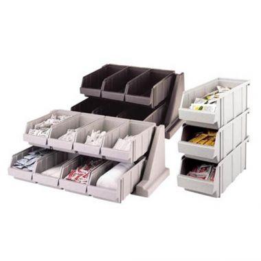Cambro® Versa Line Combined Bin Organizer W/ 12 Bins, Speckled Gray - RFS025/12RS12480