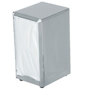 "Browne® Stainless Steel Standard Napkin Dispenser, 4"" x 4.5"" x 7.5"" - RFS016/57221"