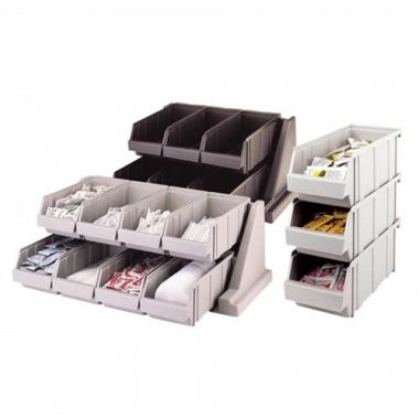 "Cambro® Versa Line Combined Pack Bin & Rack W/ 8 Bins, Speckled Gray, 25.125""L x 17.25""D x 9.25""H - RFS025/8RS8480"