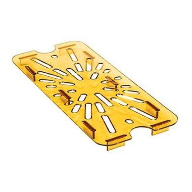 Cambro® High Heat Drain Shelf, Amber, 1/9 Size - RFS025/90HPD150