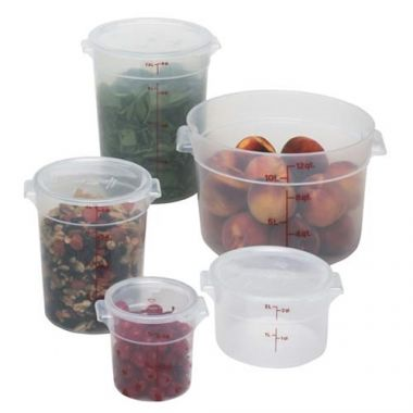 Cambro® Food Storage Container, Round, Translucent, 2Qt - RFS025/RFS2PP190