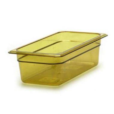 "Cambro® High Heat H-Pan, Amber, 1/3 Size 4"" Deep- RFS025/34hp150"