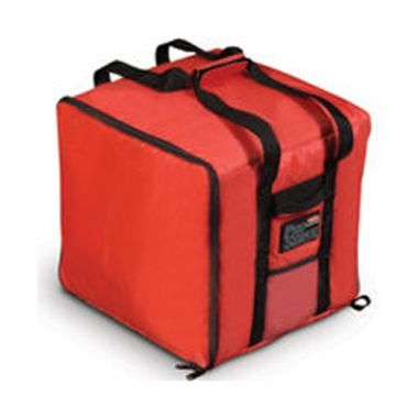 """Rubbermaid®PROSERVE®Professional Pizza Delivery Bag, Red, Large, 19 3/4"""" x 19 3/4"""" x 13"""" - RFS152/FG9F3900RED"""