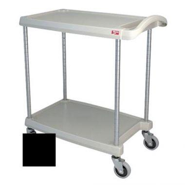 "Metro® myCart Series Polymer Utility Cart 2-Shelf, Black, 16"" x 27""- RFS117/MY1627-24BL"