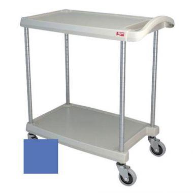 "Metro® myCart Series Polymer Utility Cart 2-Shelf, Blue, 16"" x 27""- RFS117/MY1627-24BU"