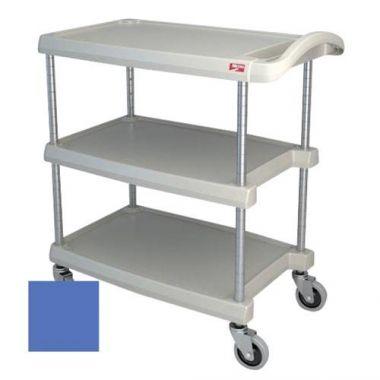"Metro® myCart Series Polymer Utility Cart 3-Shelf, Blue, 16"" x 27""- RFS117/MY1627-34BU"