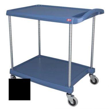 "Metro® myCart Series Polymer Utility Cart 2-Shelf, Black, 20"" x 30""- RFS117/MY2030-24BL"