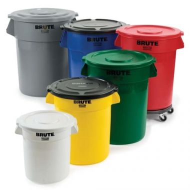 Rubbermaid® Brute Round Container, Yellow, 32Gal -  RFS152/FG263200YEL