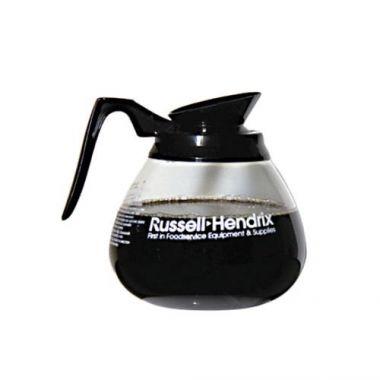 Wells Bloomfield® Glass Coffee Decanter w/ Russell Hendrix Logo, Black, 10- RFS3052/4H-REG89192BL24
