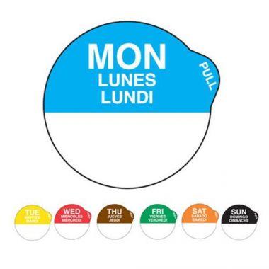 "Ecolab® SuperRemovable Peel Label, Monday, 1"" - RFS240/10127-01-31"