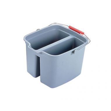 Rubbermaid® Double Pail, Gray, 17 Qt - RFS152/FG261700GRAY
