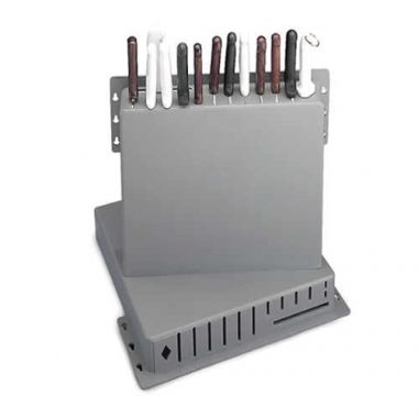 Tablecraft® Knife Rack, Gray, 12-Knives- RFS558/PKR-1