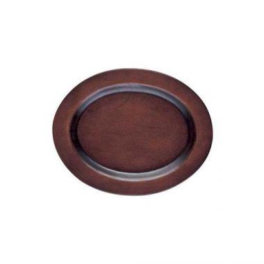 "Browne® Oval Wood Underliner, Walnut Stain, 10"" - RFS016/573706, Free Shipping in Canada. Shop Linen Plus"