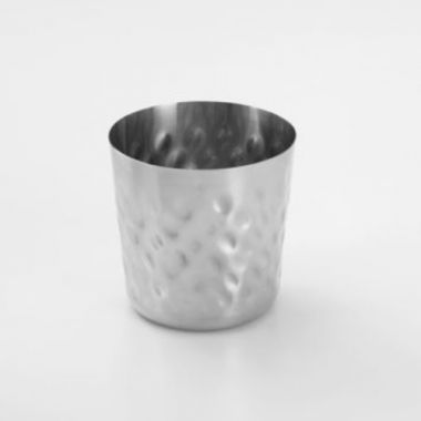American Metalcraft® Stainless Steel Fry Cups w/Hammered Finish, 14 oz - RFS035/FFHM37